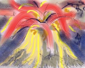 Stevie's volcano of anger